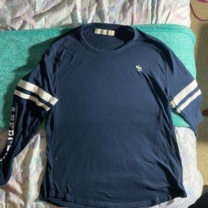 Hollister long women's long sleeve in navy blue